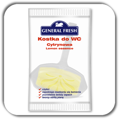 Kostka do WC GENERAL FRESH 35g. cytryna