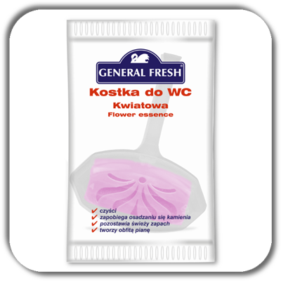 Kostka do WC GENERAL FRESH 35g. kwiat