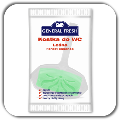 Kostka do WC GENERAL FRESH 35g. las