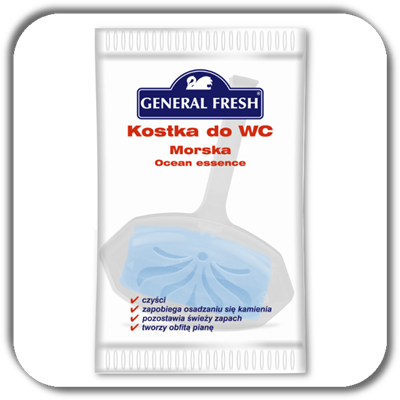 Kostka do WC GENERAL FRESH 35g. ocean