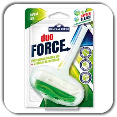 Kostka do WC GENERAL FRESH duo 40g. FORCE las