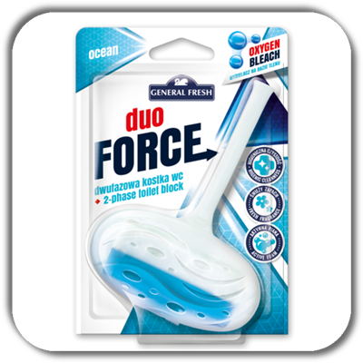 Kostka do WC GENERAL FRESH duo 40g. FORCE ocean